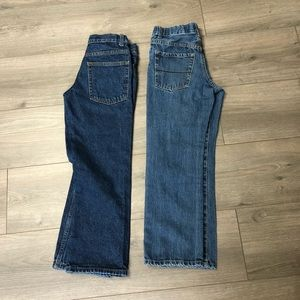 Lot of 2 Boys Size 8 Jeans w/ Elastic Waistband